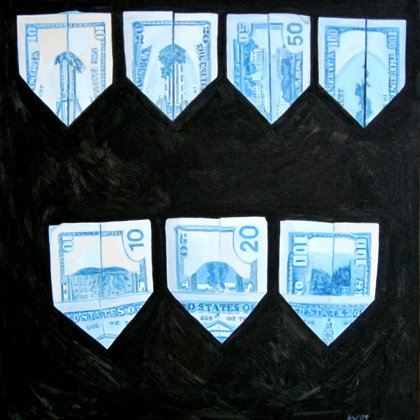 US Dollars, 2007, 110 x 120 cm, oil on canvas